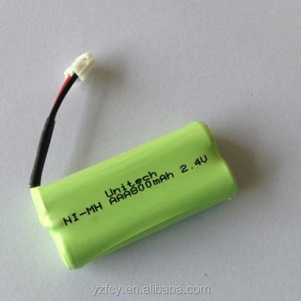 aaa 2.4v 800mah nimh battery