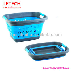 Environmental Silicone Collapsible Laundry Basket