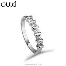 Ouxi moda venta al por mayor nuevo modelo 18 K del oro del mens con piedras 40156-1