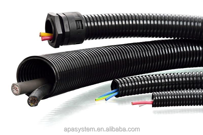 Full size nylon corrugated pvc flexible