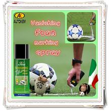 Autokem 200 ml caliente venta de fuga de espuma marcado aerosol, árbitro espuma marcador, campo de fútbol de fuga / temporal