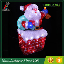 China Manufacturer Most popular Acrylic Holiday Decoration Christmas man ornament for slipper