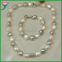 latest design Genuine freshwater stylish hyderabad pearl set