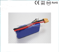 rechargeable lipo battery 7.4v 2200mah rc car battery pack 40C high discharge rate