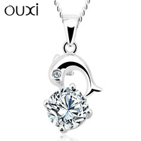 dolphin pendant design jewelry necklace,artificial american diamond jewellery