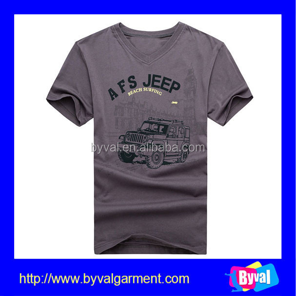 Bulk Buy Clothing Plain T Shirt For Printing Cotton V Neck