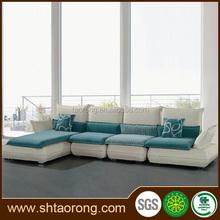 New design l shape wood frame office sectional sofa TRSO-855