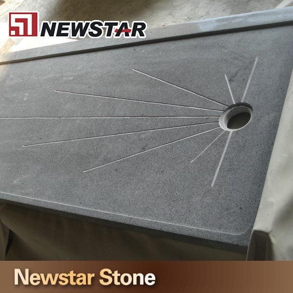 Pierre naturelle de granit receveur de douche sur mesure bacs douche id de produit - Receveur graniet ...