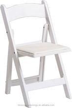 white wedding resin folding chairs