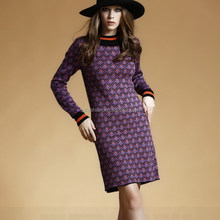 Latest New fashion Boutique ladies western cashmere sweater dress 2014 designs