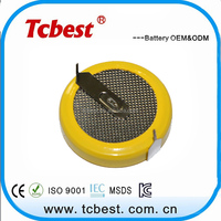 3.6V rechargeable button battery LIR2450 lithium ion battery for led light