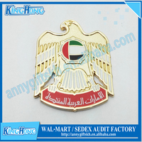 Falcon design National day metal UAE badge