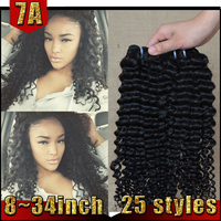 Unprocessed Virgin Hair Top Quality 7A 100% Virgin Remy Peruvian Jerry Curl Hair Weave