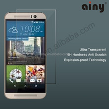 OEM Factory supply 0.3mm 2.5D tempered glass screen protector for htc one x