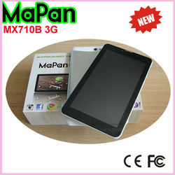 1024*600 HD resolution 7 inch android 4.4 MaPan MX710B 3G cheapest tablet pc with sim slot