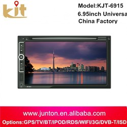 In-dash touch screen car dvd player 2 din 6.2inch car audio with gps navigation bluetooth