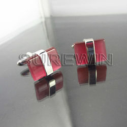Beautiful Fancy Red Cuff Link for Decorative