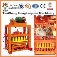 Hot !! concrete brick machine used QTJ 4-40 concrete block machine in Mexico / block making machine cost