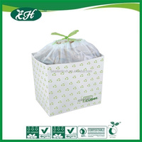 100% biodegradable cornstarch colored plastic trash bags