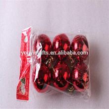 Red clear glass ornamentos de la bola