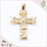 """Shiny And Ancient Cross Sterling Silver With """"x"""" Decoration Pendant"""