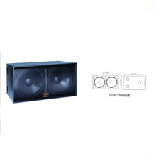 1200w dual 18-inch subwoofer for pub and multifunction hall