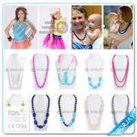 Colorful Bead Chunky Necklace For teething costume jewelry manufacturers