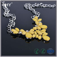 HHY silver crystal necklace jewelry XL-9