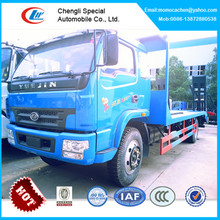 Yuejin 6 wheelers flat bed truck,8-10tons flat bed recovery truck,truck flat load bed
