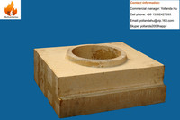 fused silicon lining refractory fire brick for glass furnace