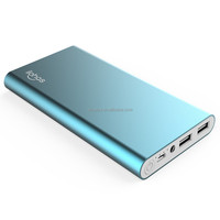 Slim power bank JP57, 10000mAh, with aluminium case and dual USB output
