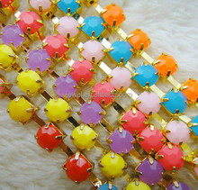 round candy pastel iron acrylic crystal cup chain rhinestone in roll claw jewelry making garment accessoires shoe decorative