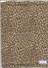 Synthetic Leopard Printed Leather for Furniture with PVC Coated
