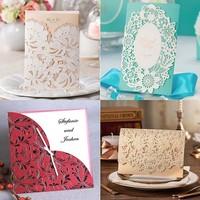 Wholesale Romantic Folded Wedding Invitation Cards Models