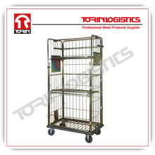 European supermarket foldable nesting mesh roll container trolleys (L940 *W560 mm /OEM)