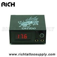 steel shell low price Mini tattoo power supply New Best Professional Digital LCD Tattoo Power Supply