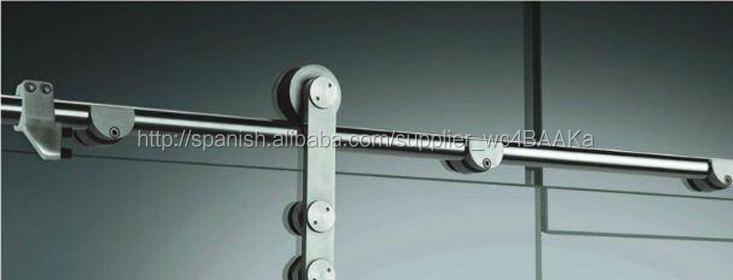 nuevo estilo plegable corredera de cristal sin marco puerta de la ducha aseo con marco