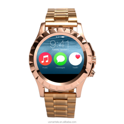 2016 wholesale T2 smart watch round smart watch stainless steel Heart Rate monitor smart phone 3g wifi