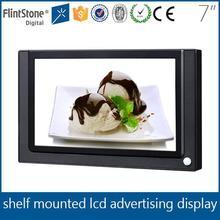 Flintstone 7 inch loop play pos advertising screen , body sensor digital player, retail digital display panel