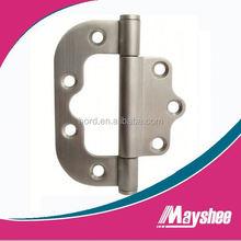 Stainless steel interleaf flush hinge