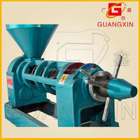 Ex-work oil refinery use hot/cold press 6.5T/24hs sunflower seed castor oil press machine
