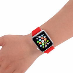 2015 mix color cheap silicon band for Apple Watch silicon watch band