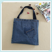 Custom made eco/ fashion blank denim tote bag