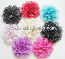 CF0178 hair accessories cheap colorful Beautiful fabric lace flower,chiffon flower