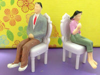1:25 scale Plastic People Figure ,Scale model people models of mini romantic chair
