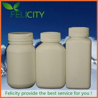 plastic new products for 2014 empty 150cc hdpe flat healthcare bottle plastic pill bottles flat
