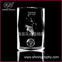 crystal 3d laser etched paperweight