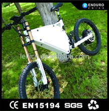 chopper electric one wheel bicycle 5kw white color