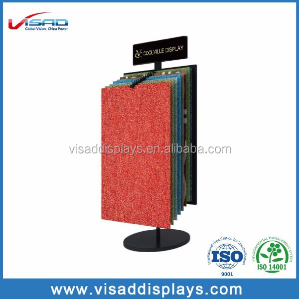 High quality metal brand carpet sample display rack buy for Best quality carpet brands