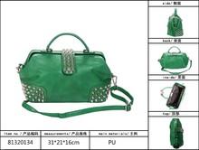 Cheap Ladies green trend PU hot selling handbags